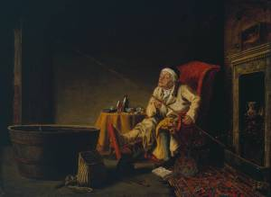 Enthusiast ('The Gouty Angler') 1828, exhibited 1828 by Theodore Lane 1800-1828
