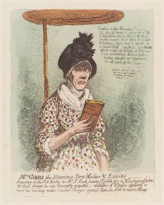 NPG D12709; Jane Gibbs ('Mrs Gibbs the notorious street-walker, and extorter') by James Gillray