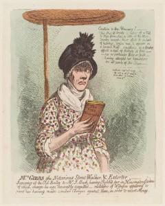 NPG D12709; Jane Gibbs ('Mrs Gibbs the notorious street-walker, and extorter') by James Gillray