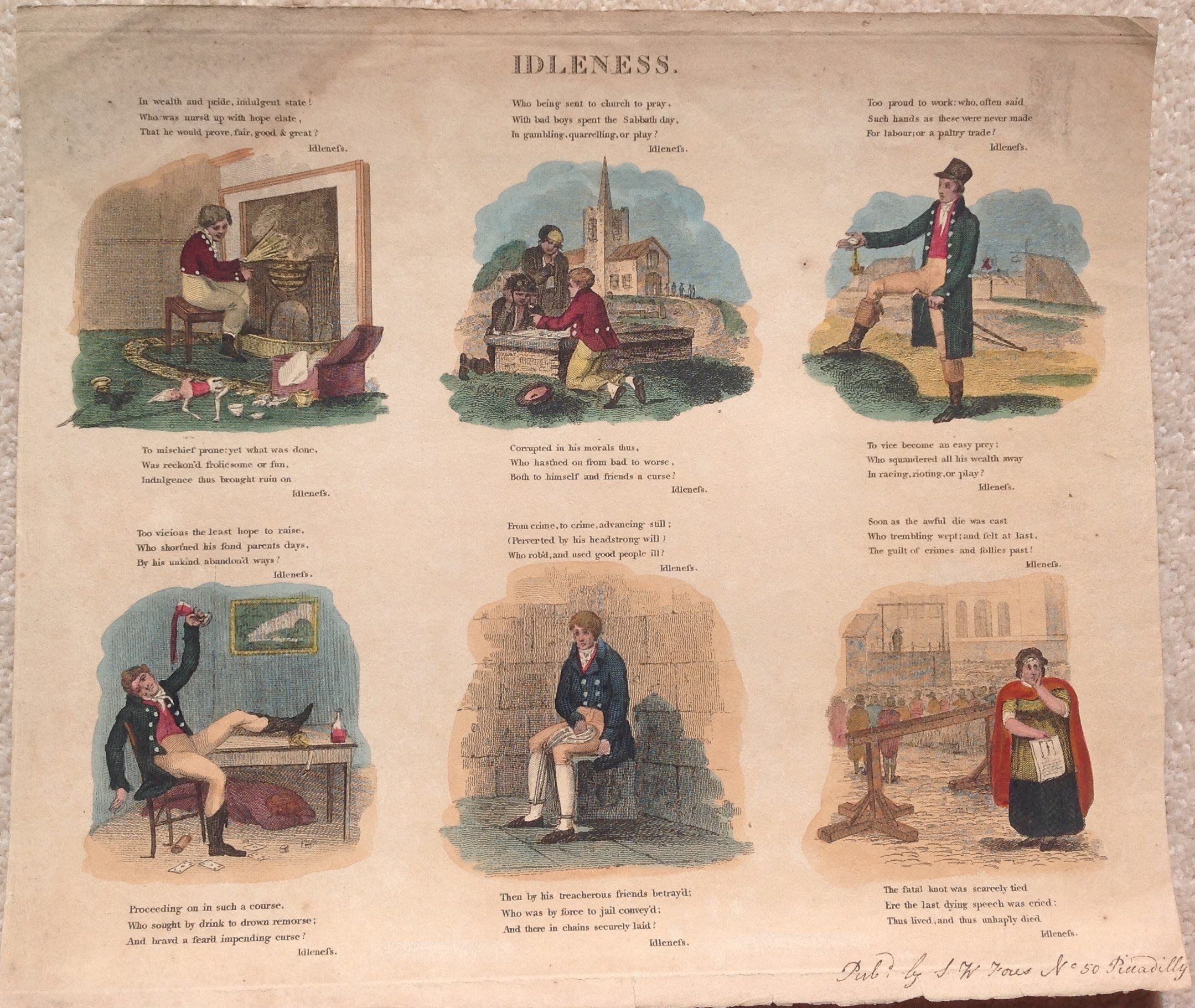 industry idleness re imagined the printshop window charles williams industry idleness published by s w fores c 1820