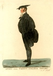 After leaving London in the disgrace, Dighton spent a considerable amount of time in Oxford and produced several caricature studies of noted local connected with the university.