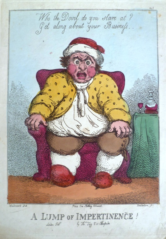 Rowlandson & Woodward, 'A Lump of Impertinence' (1809) Best do as he says...
