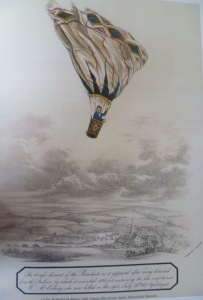 'The Tragic Descent of the Parachute...' This print presumably provided the inspiration for Doyle's caricature design