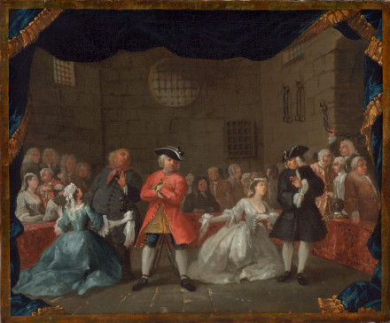 After William Hogarth, A Scene from the Beggar's Opera, 1728/29, National Gallery of Art, Washington D.C.