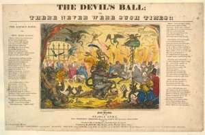 I.R. Cruikshank, The Devil's Ball.... published by Thomas Dolby, 1820